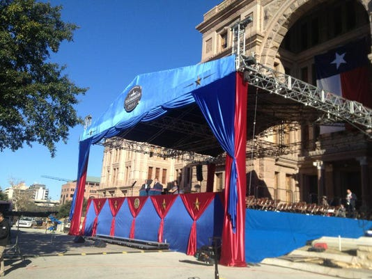 Inauguration tent