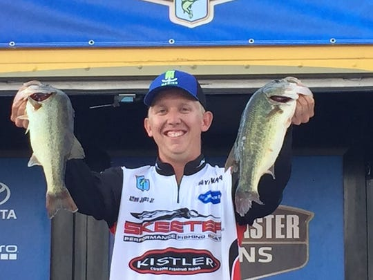 Alton Jones Jr. holds up some of the fish that helped him win the Central Open.