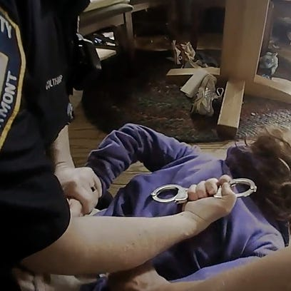 Shown in this police body-cam video, Hineburg Police