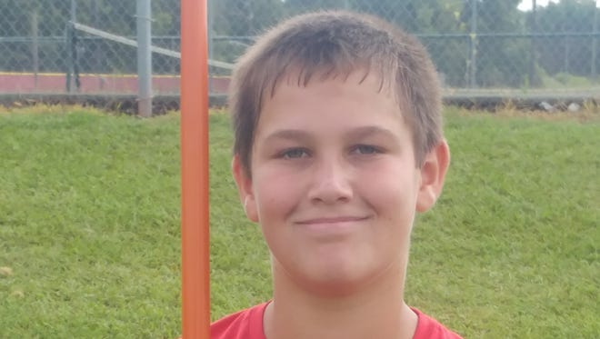 Yancey County middle school student Jesse Shelton was a winner in the boys javelin at this weekend's North Carolina AAU Area 25 Regional Qualifer meet in Charlotte.