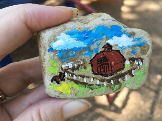 Here's one of the rocks that Adalie Campbell, 3, found