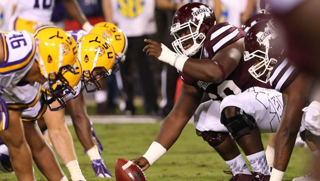 Mississippi State senior Jamaal Clayborn was named to the Rimington Trophy watch list on Tuesday.
