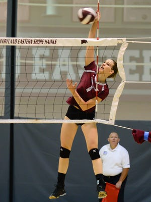 Maryland Eastern Shore's Iva Vujosevic plays in a game against Rider University on Saturday, Sept 3, 2016.