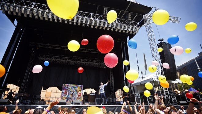 Gloom Balloon performs at 80/35 on Friday, July 4, 2014.