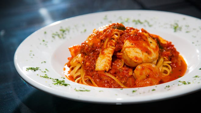 The spicy seafood linguine