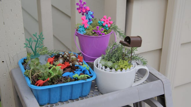 Tiny containers make tiny gardens, perfect for the young gardener in your life.
