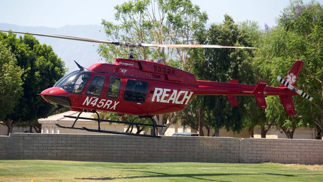 A 3-year-old girl tumbled out a second-story window at an Indio apartment complex today and was airlifted to a hospital. FILE