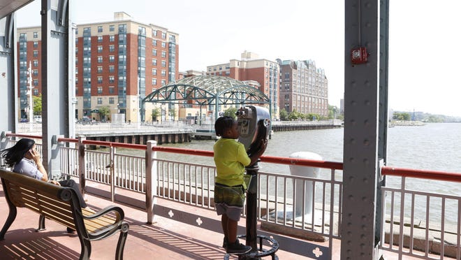 Scenes at the Yonkers pier, May 26, 2015.