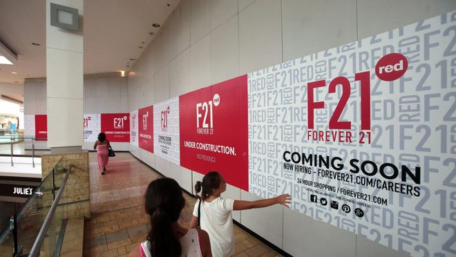 Forever 21 is set to open one of its F21 red spinoff stores at Westfield Palm Desert in August.