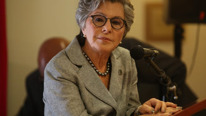 Sen. Barbara Boxer visited the Desert Aids Project building in Palm Springs, Calif., on April 23, 2014.