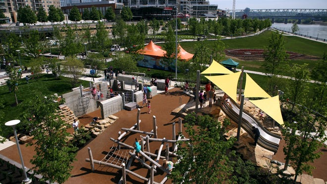 The Heekin Family/PNC Grow Up Great Adventure Playground at Smale Riverfront Park opened in Cincinnati in May.