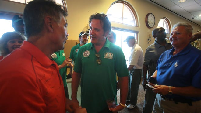 Actor Frank Stallone the brother to Sylvester Stallone attends the WBC Cares Charity Golf Tournament held at the Morongo Casino's Tukwet Canyon Golf Course in Beaumont. The money raised at the event goes to the WBC Cares' Retired Boxers Fund.