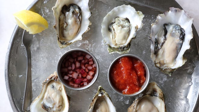 East Coast oysters: fat, briny, and delicious.