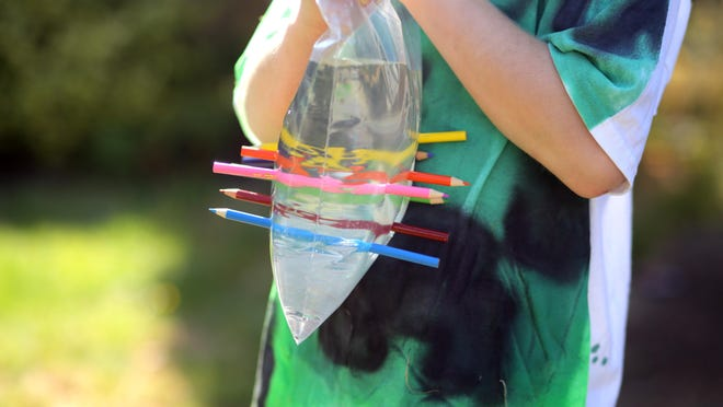 It's magic! See if kids can figure out why water doesn't leak after a bag is punctured with pencils.