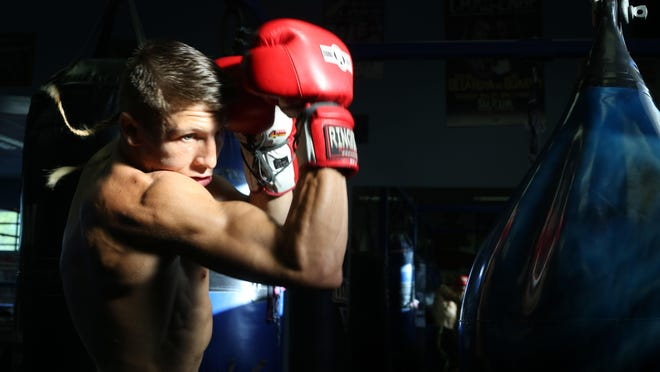 Neeco Macais trains at the Lee Espinoza Coachella Boxing Club as he prepares for his fight this Saturday at Fantasy Springs Resort Casino.