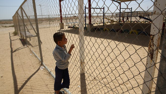 A child at the Zaatari Refugee Camp in Jordan, the largest in the Middle East.