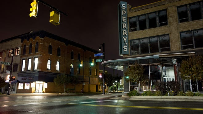 The historic Sperry's building sits empty October 8, 2015 in downtown Port Huron.