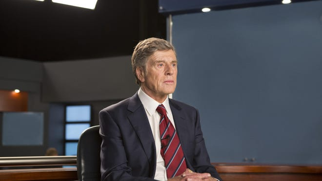 "Robert Redford portrays Dan Rather in ""Truth."""