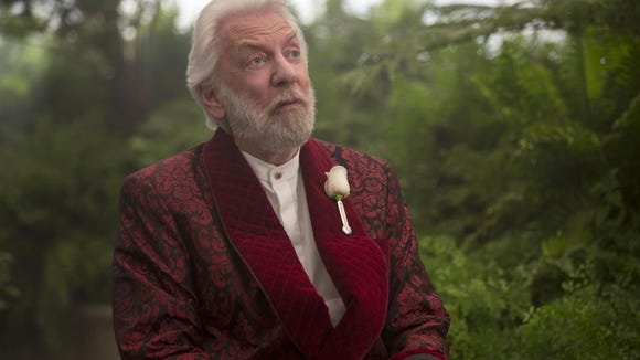 """Donald Sutherland stars as President Snow in """"The Hunger Games: Mockingjay Part 2."""""""
