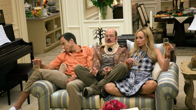 Will Arnett, David Cross and Portia de Rossi in a scene from an episode of the the television program 'Arrested Development.' Credit: Sam Urdank, Netflix [Via MerlinFTP Drop]