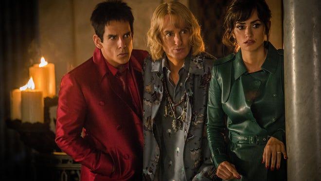 """Left to right: Ben Stiller plays Derek Zoolander, Owen Wilson plays Hansel and Penelope Cruz plays Valentina Valencia in """"Zoolander No. 2."""""""