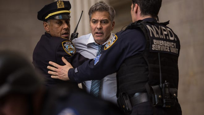 """This image released by Sony Pictures shows George Clooney in a scene from """"Money Monster,"""" opening in theaters nationwide on May 13."""