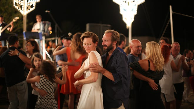 "Tilda Swinton and Ralph Fiennes in ""A Bigger Splash."""