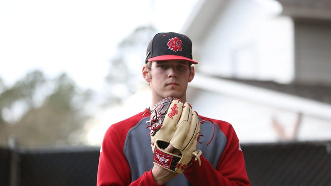NFC pitcher Cole Ragans was taken in the first round of the MLB draft on Thursday, picked at No. 30 overall by the Texas Rangers, becoming only the second area high schooler selected in the first round.