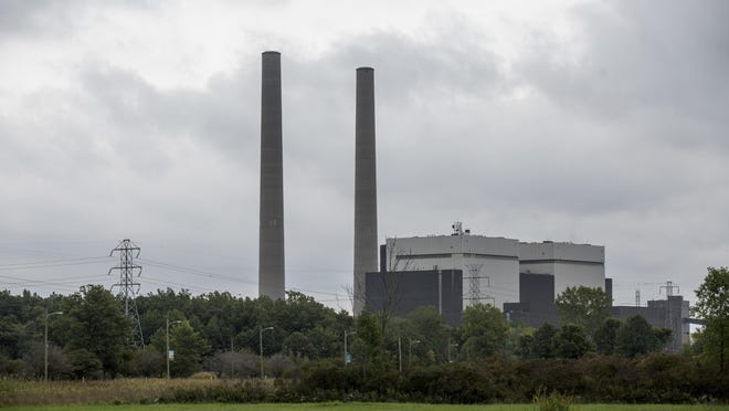 The Belle River Power Plant in East China Township. DTE announced it will be investing up to $1.5 billion in new facilities at the site by 2023.