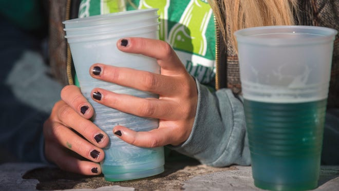 The annual Green Beer Day was in full swing in downtown Oxford Thursday, the day before the start of Miami University's Spring Break. The annual tradition started at Miami in 1952.