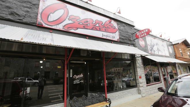 The Ozark Café is located on the Newton County square in Jasper, Arkansas.