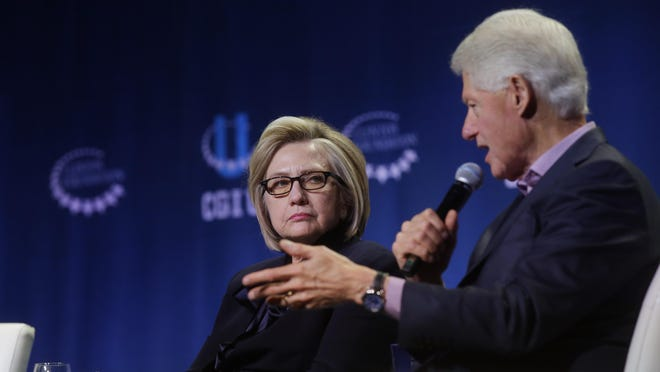 Former Secretary of State Hillary Clinton and former President Bill Clinton