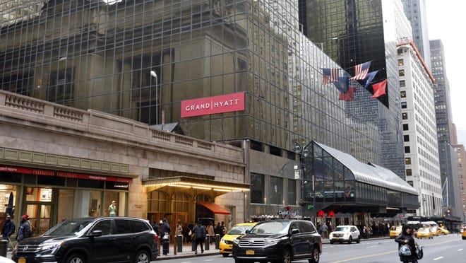 The Grand Hyatt Hotel, in New York, is shown in this photo, Feb. 7, 2019. The building that helped Donald Trump make a name for himself in Manhattan is being sold to developers who plan to tear it down.