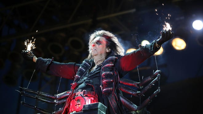 Alice Cooper performs June 17. 2012, on the final night of the Burlington Steamboat Days on the Mississippi Riverfront in Burlington.