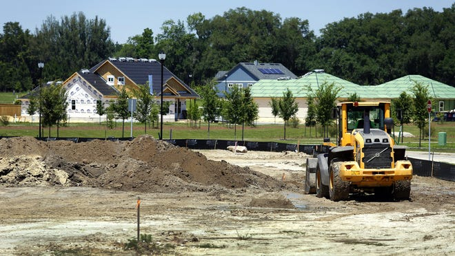 New homes are constructed west of Gainesville.