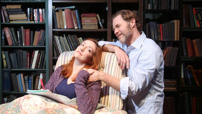 "Sarah Street portrays Kyra and Peter Simon Hilton is Tom in Palm Beach Dramaworks' production of David Hare's ""Skylight.""  The play opens Friday and runs through March 1 at the theater in West Palm Beach."