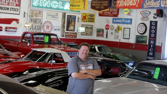 Rick Robinson, a lover of classic cars and Canton history, opened Rally Sport Classics in Perry Township a year ago.