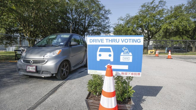 The Houston Food Bank was one of 10 drive-thru voting sites in Harris County during the early voting period that ended Friday.
