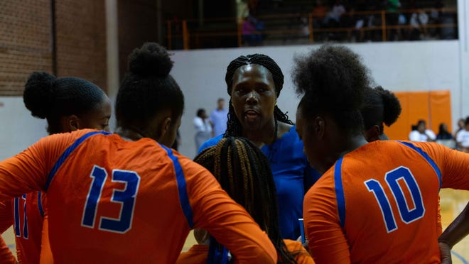 Savannah State volleyball coach Roselidah Obunaga.