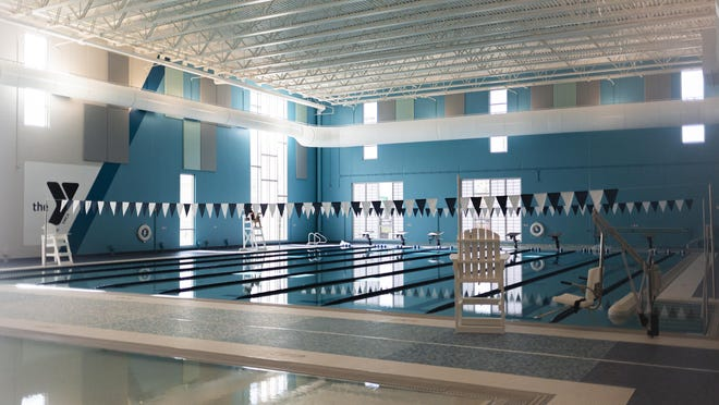 The new aquatic center features an eight lane swimming pool along with a recreational pool at the new Downtown YMCA, Saturday, November 14, 2020, in Springfield, Ill. The new facility is scheduled to open on Monday.