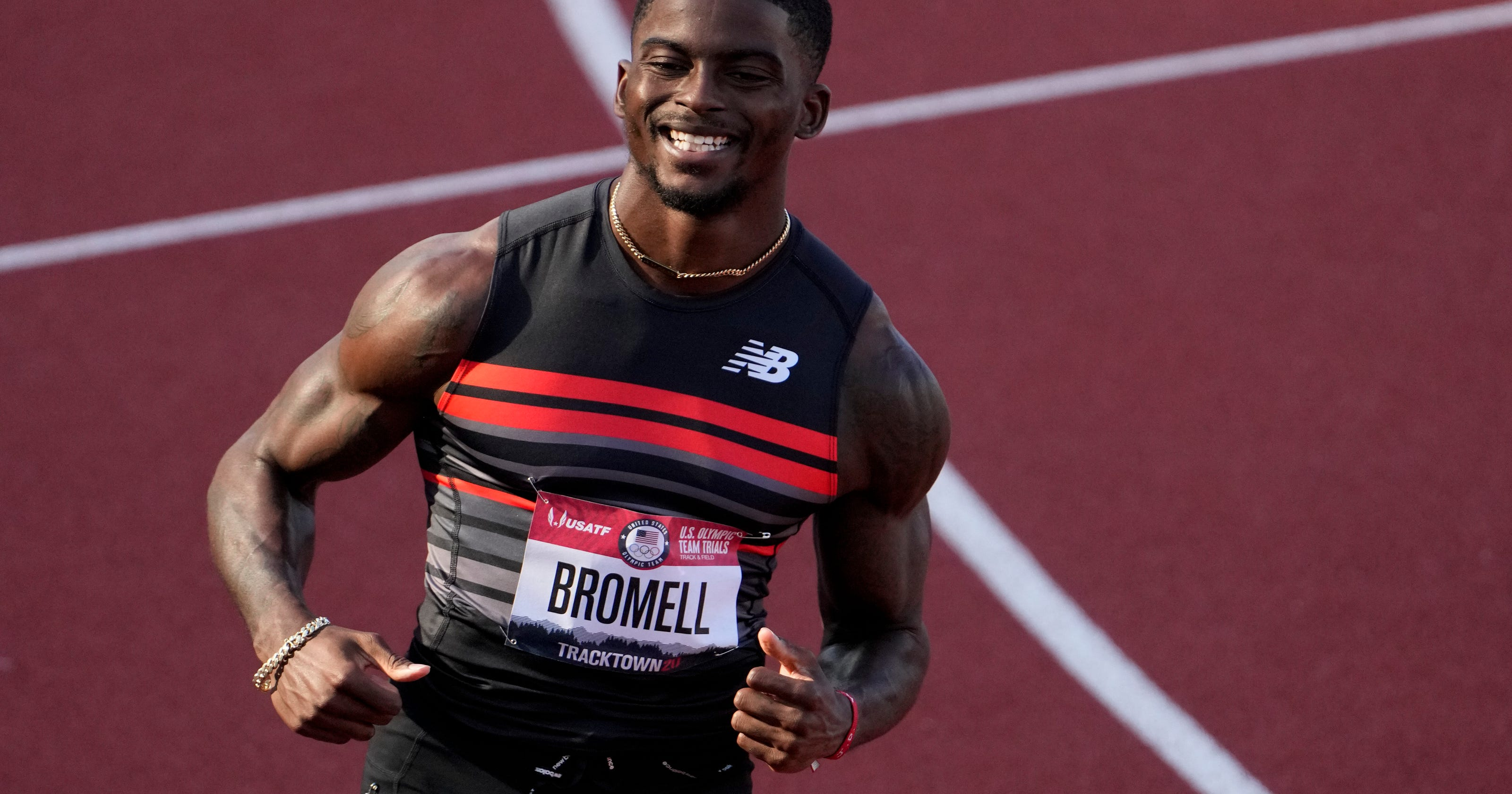 Injuries now behind him, Trayvon Bromell wins men's 100m to secure spot at Tokyo Olympics