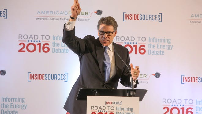 Former Texas Gov. Rick Perry spoke on where the U.S. should be heading when it comes to energy and water quality at a forum Thursday in Des Moines.