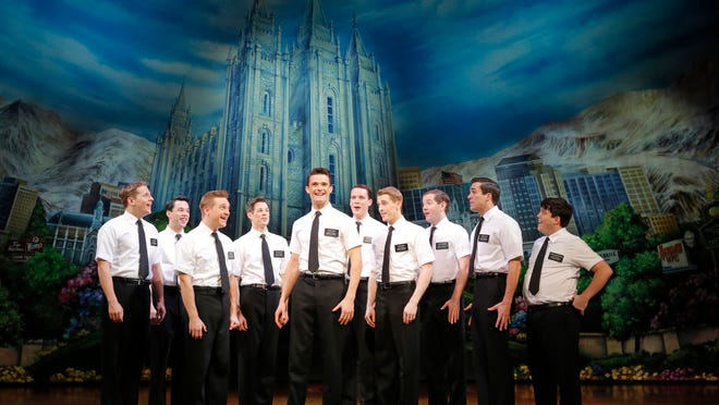 """A scene from the first national tour of """"The Book of Mormon."""""""