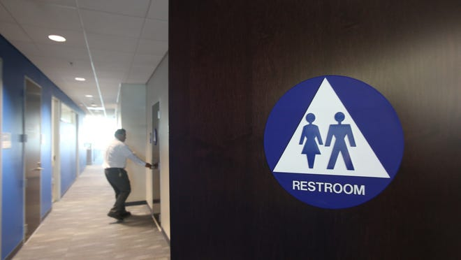 Palm Springs approved a gender-neutral bathroom policy Wednesday.