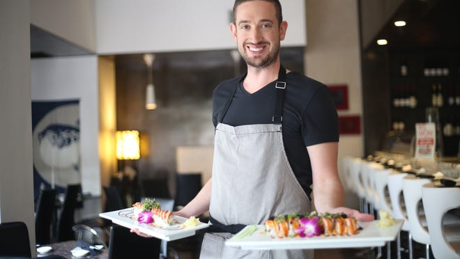 """Chef Engin Onural, pictured at his El Paseo restaurant, The Venue, describes sushi as """"my way of expressing myself. This is the way I communicate with people."""""""