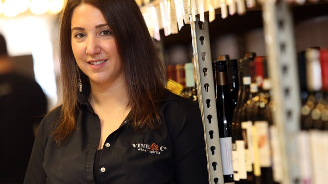 Jen Lucia, wine director of Vine & Co., at the store in Bedford Hills.
