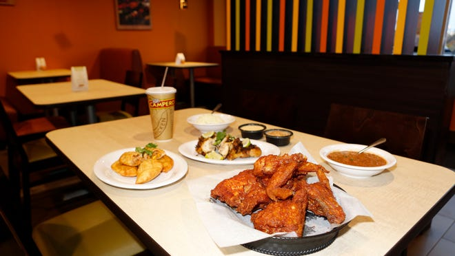 The fried chicken, empanadas and other dishes at Pollo Campero in Spring Valley.