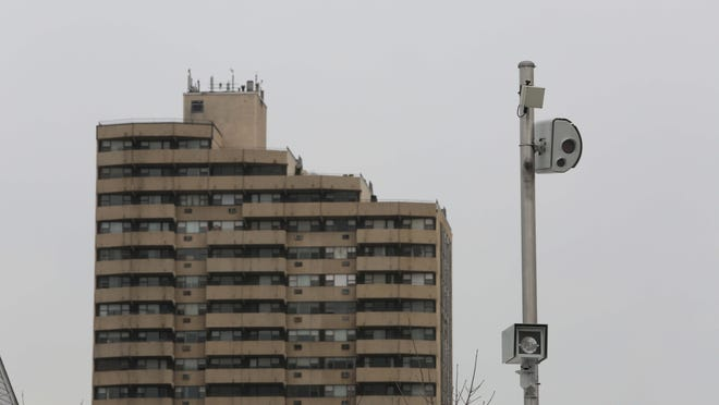 A pole mounted red light camera on Central Park Avenue near Arlington Street in Yonkers, seen on March 10.