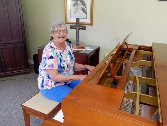 A talented pianist, 77-year-old Ann Grubb is excited