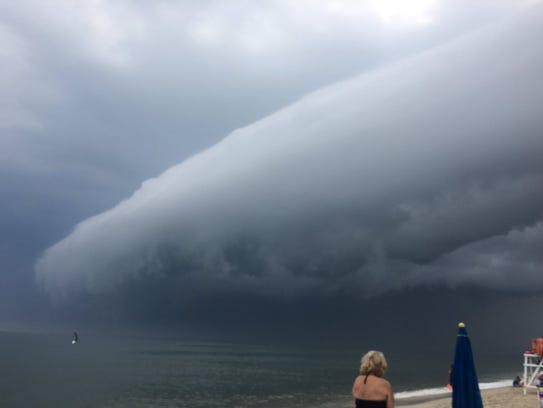 Storm clouds roll in over 58th Street in Ocean City.